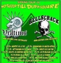 UK tour 2009 Viktims Hellscrack no sleep till Dupin square