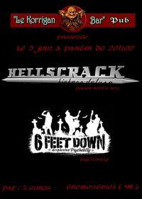 concert hellscrack, six feet down, notepok