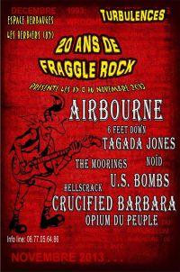 concert hellscrack , airbourne , crucified barbara